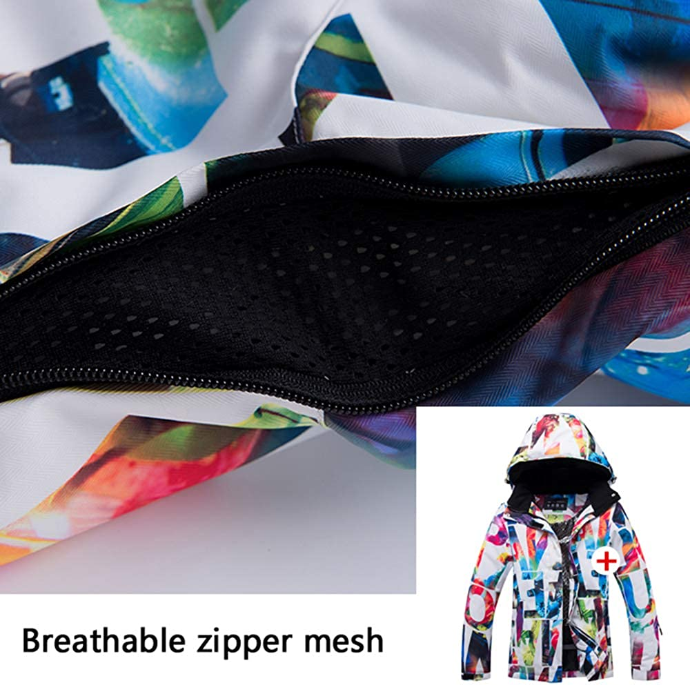 Fenglin Neue Dicke Warme Womens Ski Anzug Wasserdicht Winddicht Skifahren und Snowboarden Jacke Hosen Set Weiblichen Schnee Kost/üme Outdoor Tragen