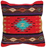 El Paso Designs Aztec Throw Pillow Cover, 18 X 18, Hand Woven in Southwest and Native American Styles (Aztec Sun)
