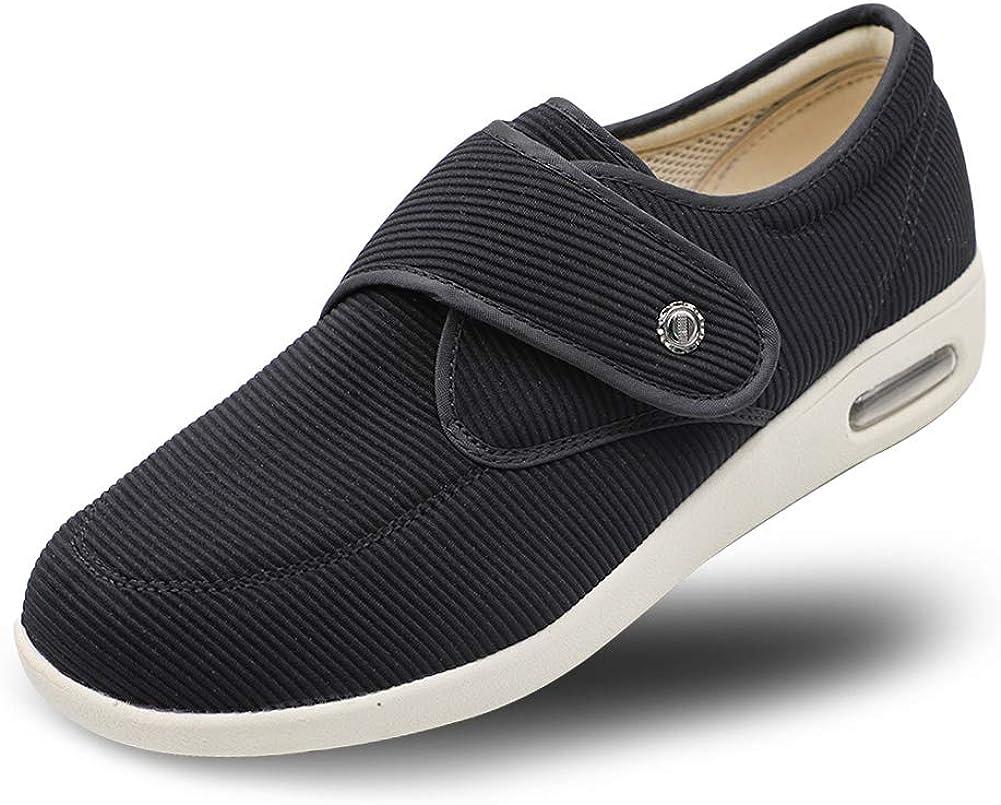 Secret Slippers Women's Diabetic Air Cushion Walking Shoes, Adju