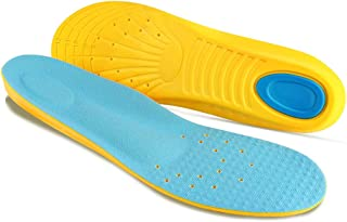 Plantar Fasciitis Insoles with Arch Support Comfort Memory Foam Orthotic Sport Gel Shoe Inserts for Men Women Kids Relieve Flat Feet, High Arch, Heel Spurs,Foot Pain (M US Mens 6-9/Womens 8-11)