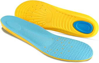 Plantar Fasciitis Insoles with Arch Support Comfort Memory Foam Orthotic Sport Gel Shoe Inserts for Men Women Kids Relieve Flat Feet, High Arch, Heel Spurs,Foot Pain (S US Womens 4-7/Kids 2-5)