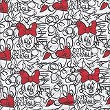 Jersey Kinderstoff Minnie Mouse Oeko-Tex®, Meterware ab