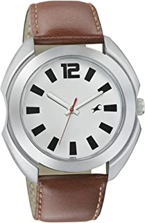 Fastrack Dress Watch For Men Analog Leather - 3117SL01