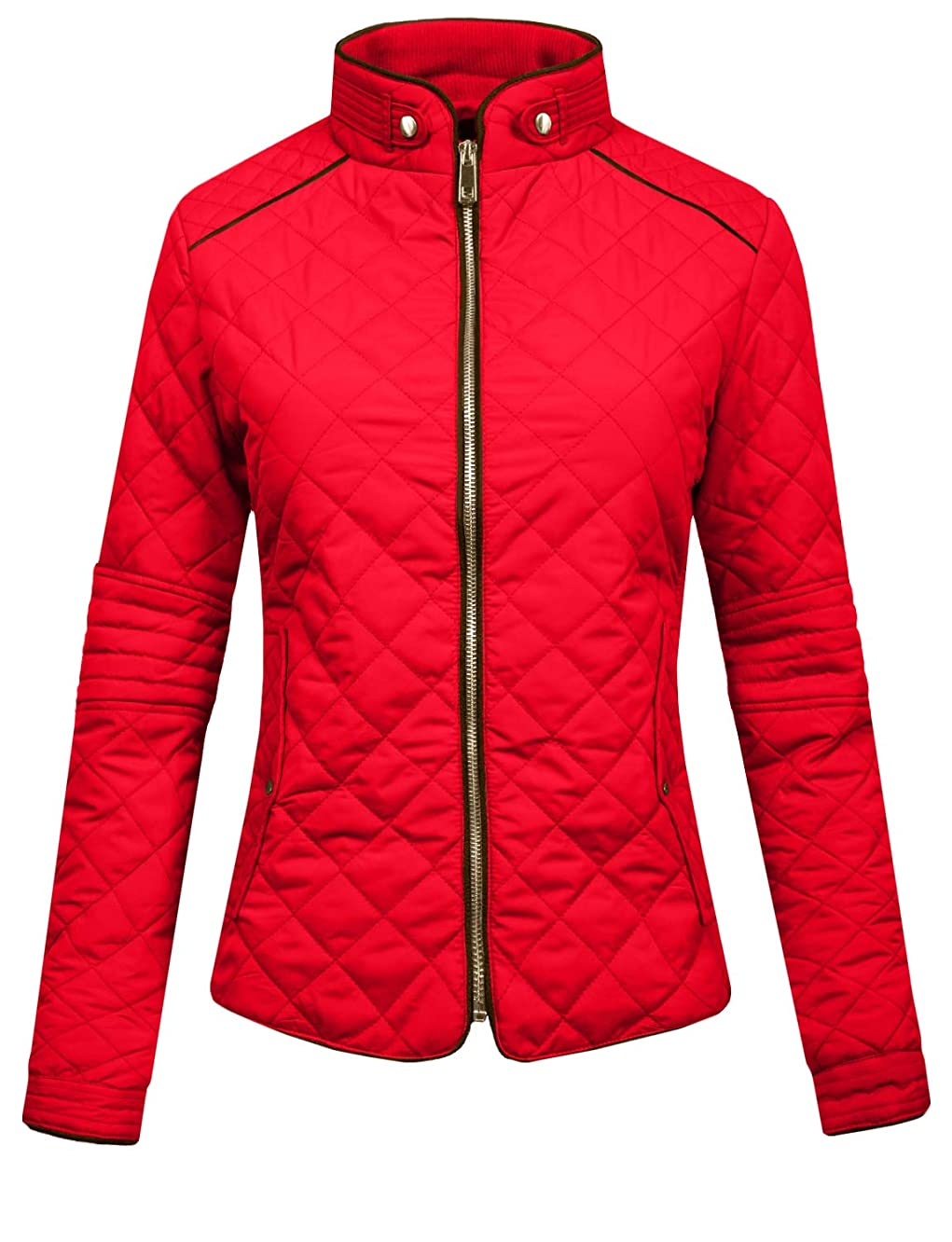 J.LOVNY Womens Lightweight Quilted Warm Zip Jacket/Vest with Pockets S-3XL