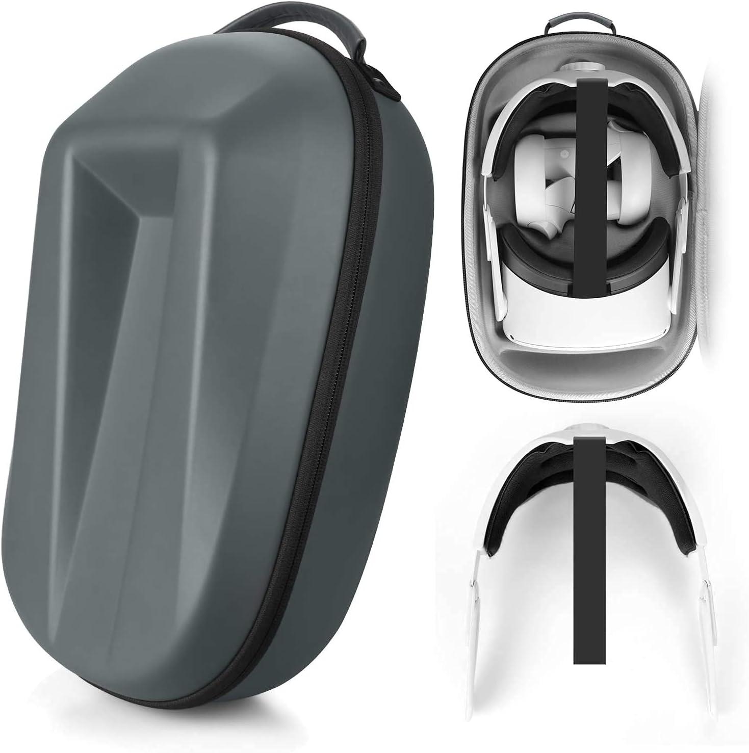 Esimen Hard Case for Oculus Quest 2 with Adjustable Head Strap Set Accessories
