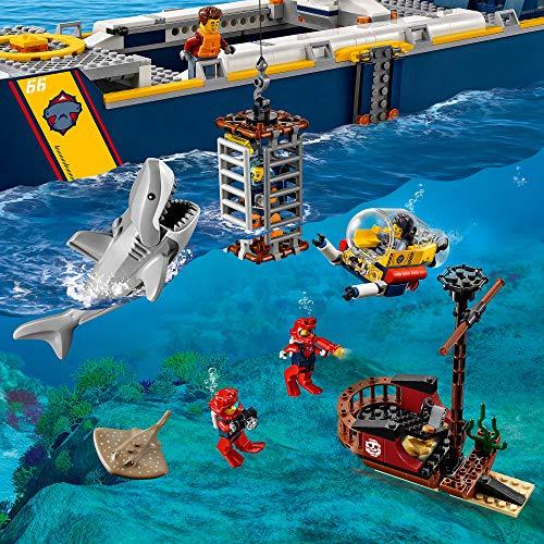 LEGO CityOceans NavedaEsplorazioneOceanica, Nave Giocattolo Galleggiante, Set Sottomarino, Avventure Acquatiche per i Bambini, 60266