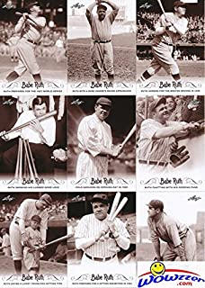 Babe Ruth 2016 Leaf Collection MASSIVE Complete 100 Card Master Set with all 80 Base Cards,10 Quotables & 10 Career Achievements Insert Cards! Incredible Looking Collection of Yankees HOF Legend!
