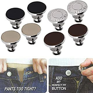 FQTANJU 1 Set Perfect Fit Instant Button, Adds Or Reduces An Inch To Any Pants Waist In Seconds.