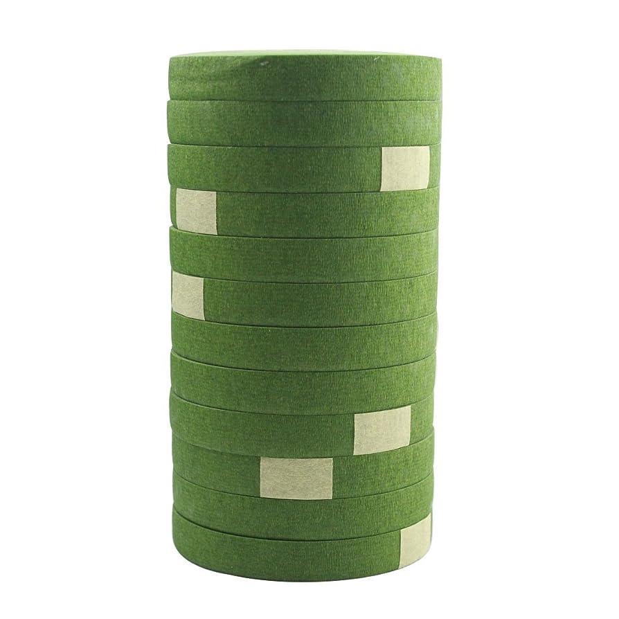 DECORA a Dozen 1/2-inch by 30 Yard Dark Green Floral Tape for Bouquet Stem Wrap Floral Arranging Craft Projects Corsages, Wedding Bouquet xrstqcekzasu2