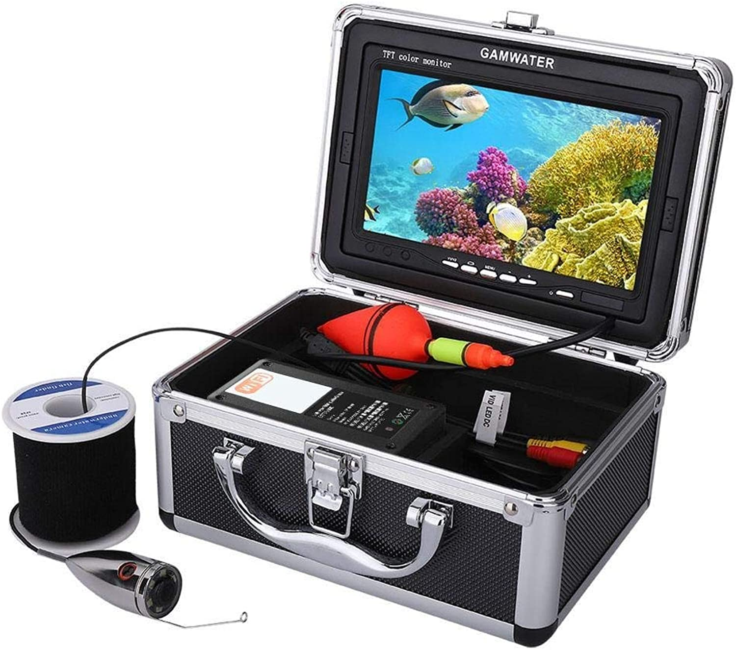 7inch LCD 1000TVL 6 LED Fishing Camera Stainless Steel Fish Detector(15m)
