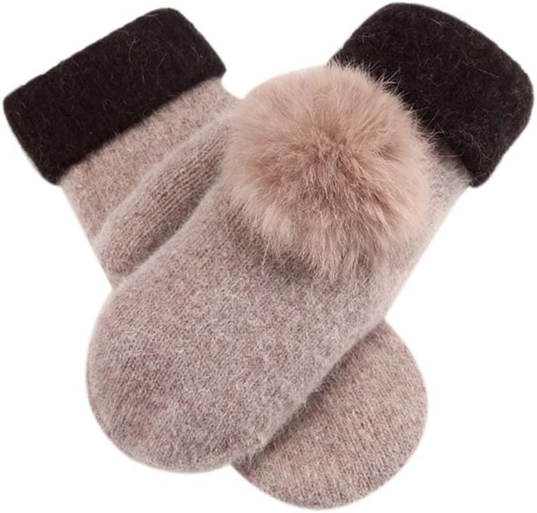 Panda Legends Woollen Gloves Lovely Warm Fingerless Gloves Fashionable Mitten for Women,KHIKA