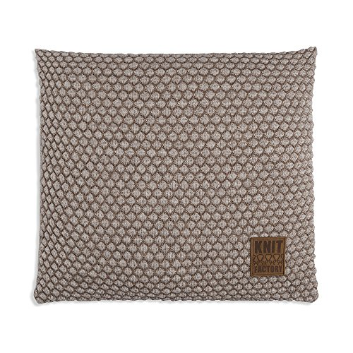 Knit Factory Juul kussen 50x50 marron/beige