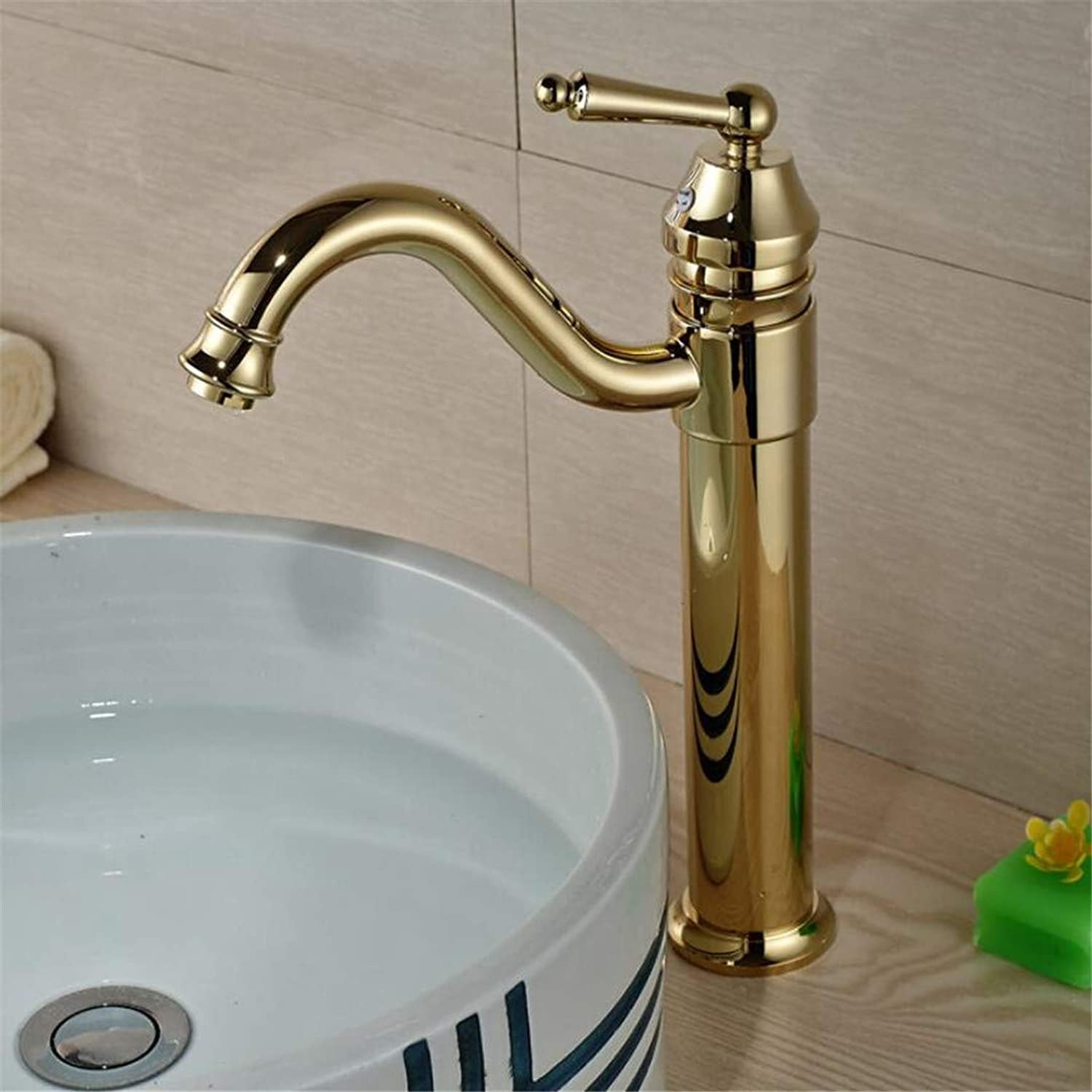 Faucet Washbasin Mixer Luxury Brass golden Single Hole Bathroom Sink Faucet High Quality