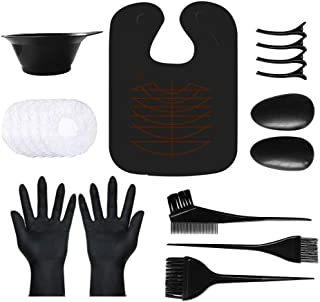 Hair Dye Kit,VITTA Hair Dye brush and bowl set for DIY Hair Coloring Bleaching, Salon Hair Dye Kit with Hair Cutting Cape