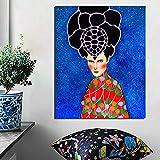 KWzEQ Affiche Nordique Cool Girl Art Print Toile Peinture Salon Décoration de La Maison Moderne Mur Art,Peinture sans Cadre,50x60cm