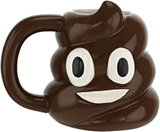 Smiley Poop Emoji Emoticon Ceramic Mug Cup, 20 oz