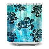 Ocean sea Turtle 72x72 fabric shower curtain
