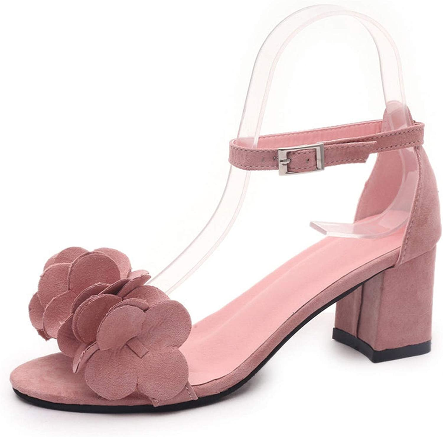 Heat-Tracing Women's Fashion Solid color Ladies shoes Wild Flowers Non-Slip Wedding Sandals
