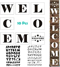 MX-Amigo 10 PCS/Set:Large Hotel Welcome Sign Stencils – Set of 8 Individual Stencils for Making a DIY Welcome Sign+2 PCS Letter and Number Stencils Alphabet Stencil
