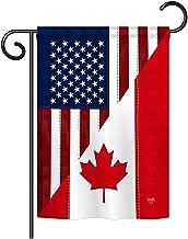 Breeze Decor G158190 US Canada Friendship Flags of the World US Friendship Impressions Decorative Vertical Garden Flag 13