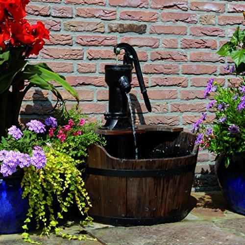 Ubbink Gartenbrunnen Holzfass