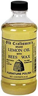 Old Craftsmen's Lemon Oil with Bees Wax Wood Furniture Polish 8oz