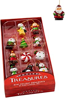 Kurt Adler 1.25-Inch Petite Treasures Mini Ornament Set of 12, 12 Piece