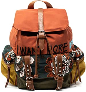 Luxury Fashion   Desigual Womens 19WAKA11ORANGE Orange Backpack   Fall Winter 19