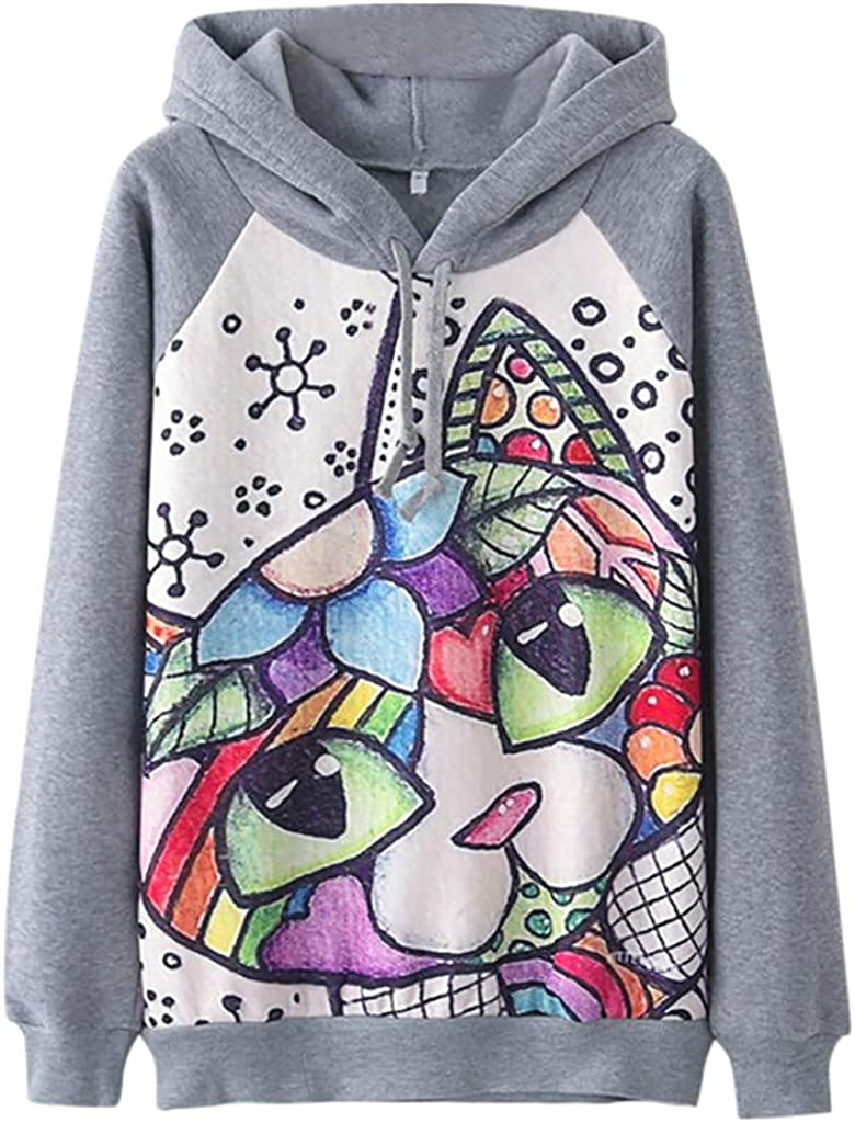 Severkill Cat Hoodies Women Pullover Pocket Pouch Aesthetic Vintage Cute Sweatshirts Sweaters At Amazon Women S Clothing Store