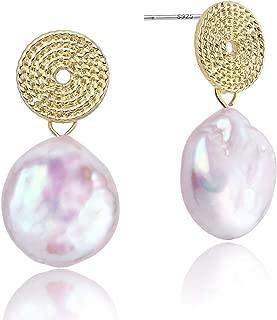 Best baroque pearl drop earrings gold Reviews