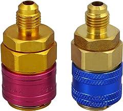 LIOOBO 2 Unids Conectores Rápidos R134a Auto Acondicionador