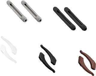 Kalevel 5 Pairs Anti Slip Eyeglass Ear Hook with Glasses Ear Pad Elastic Silicone Eyeglass Temple Sleeves Comfortable Ear Cushions for Eyeglasses (Mixed Colors Set)