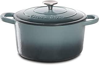 Crock Pot 69140.02 Artisan 5 Quart  Enameled Cast Iron Round Dutch Oven, Slate Gray