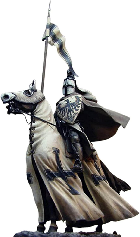 Caballero Gnomos Guardia Estatua de resina Renacimiento Medieval Cruzado Caballero a caballo Gnomos Miniatura Caballeros europeos Jardín Patio Escultura de césped Artesanía Decoración