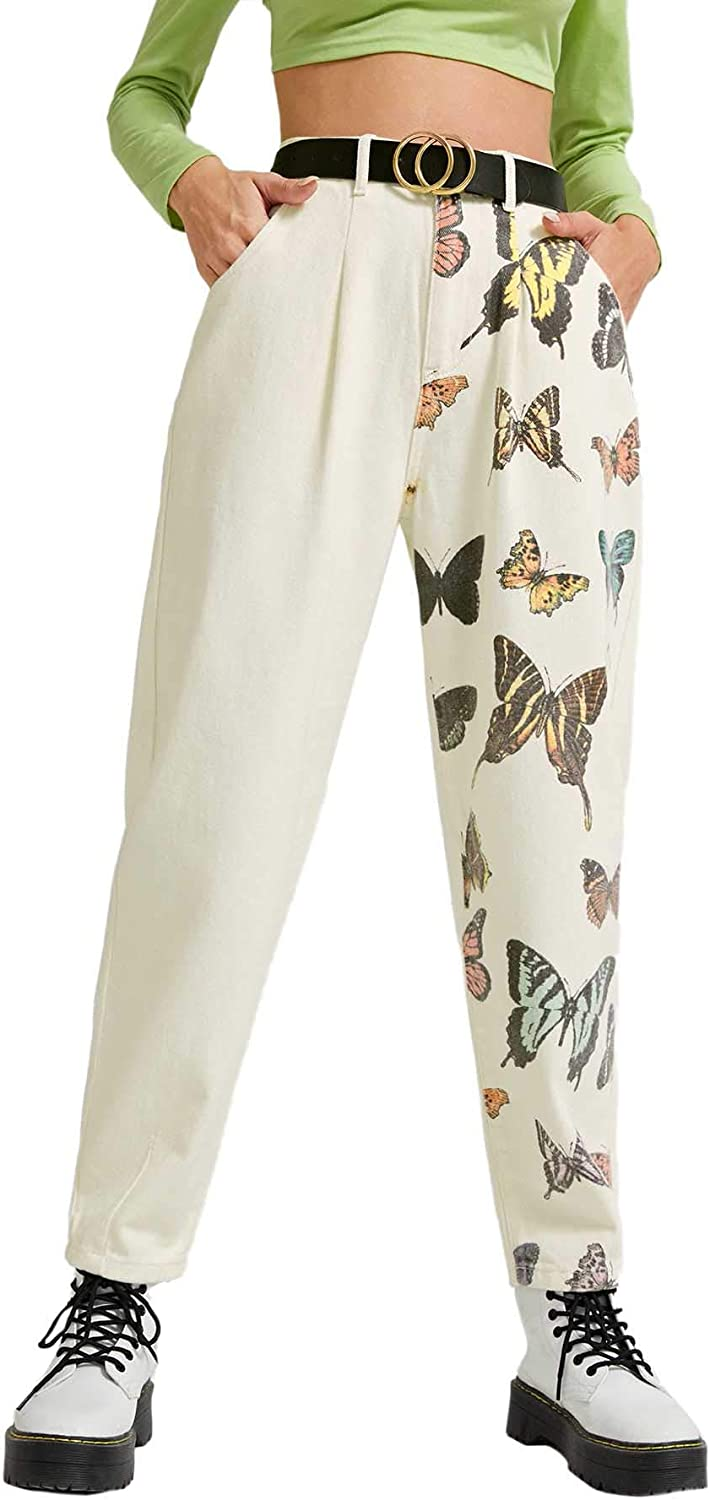Floerns Women's Casual Long Tapered Pants with Pockets
