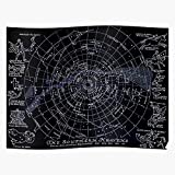 Outer Sun Southern The Moons Map Zodiac Stars Heavens Space