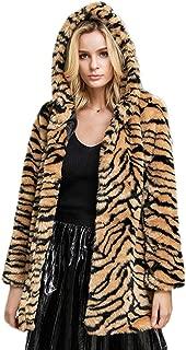 Idopy Women's Winter Warm Colorful Faux Fur Coat Chic Jacket Cardigan Outerwear Tops