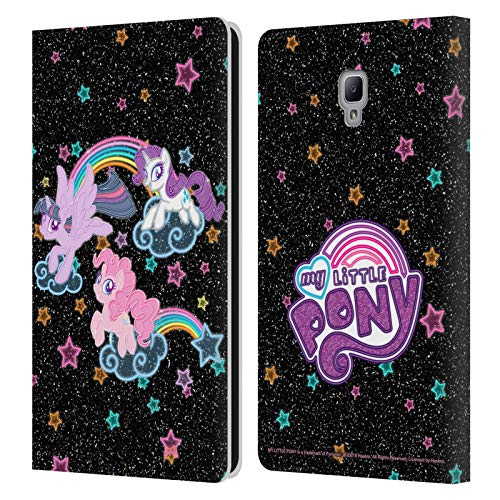 Head Case Designs Officially Licensed My Little Pony Glow Rainbow Vibes Leather Book Wallet Case Cover Compatible with Samsung Galaxy Tab A 8.0 2017