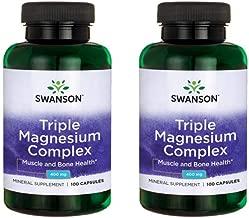 Swanson Triple Magnesium Complex 400 mg 100 Caps 2 Pack