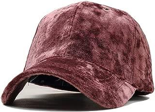 Simple Wild Casual Solid Color Velvet Visor Cap Women Autumn Winter Warm Baseball Cap (Color : Purple, Size : 56-60CM)