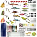 OROOTL Fishing Lures Kit - Sea Fishing Tackle Kit Set with Lure Box Including Crank Baits Swimbaits Spinnerbaits, Fishing Snap Swivels, Fishing Spoons Lures, Fishing Weights