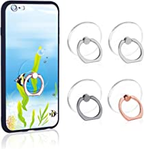 Phone Ring Transparent Cell Phone Ring Holder 360 Degree Rotation 180 Degree Flip Phone Ring Grip Finger Ring Stand Kickstand Compatible Various Mobile Phones or Phone Cases (Transparent)