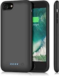 Feob Battery Case for iPhone 8/7, HI8P67B2 Upgraded 6000mAh Rechargeable Portable Charger Case Extended Battery Pack for Apple iPhone 8 & iPhone 7 Protective Charging Case (4.7 inch)- Black