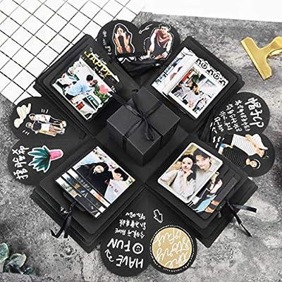 Lidelazon Creative DIY Explosion Gift Box Handmade Photo Album Scrapbooking Surprise Box for Boyfriend Wedding Birthday Thanksgiving Gifts