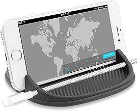 ZOORE Soporte Móvil Coche, Soporte Móvil para Coche Salpicadero Silicona Antideslizante, HUD Base Titular de Teléfono Móvil para iPhone XS MAX X 8 7 6 6S Plus Samsung Galaxy Huawei Mate Xiaomi GPS.