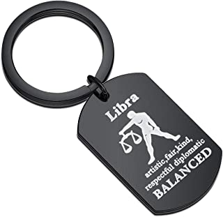 WSNANG Zodiac Lover Gifts Keychain for Friends Fashion Jewelry Zodiac Sign Keychain Astrology Birthday Gifts for Her His