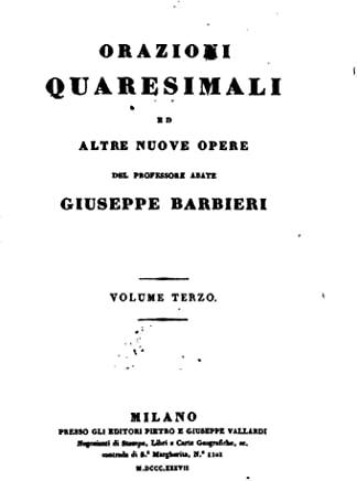 Orazioni Quaresimali - Volume Terzo