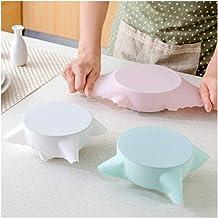 3PCS Microwave heating lid, splash-proof sealed household fresh-keeping lid, universal food-grade silicone fresh-keeping l...