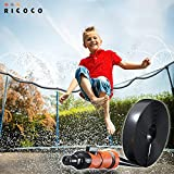 Trampoline Sprinkler for Kids 49 Ft, Heavy Duty Sprinkler For Trampoline for Outside Backyard Water Park, Fun Summer Stuff/Things/Accessories for Trampoline, Outdoor Play Toys Boys Girls Ages 7-13