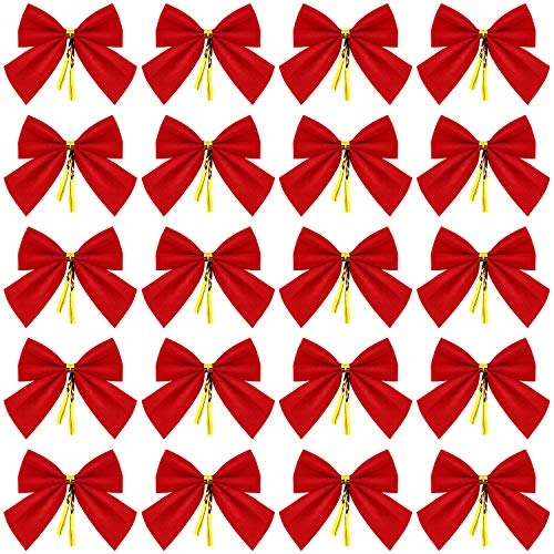 WILLBOND 144 Piezas Mini Arcos Árbol Navidad Lazos